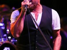 Australian Rock musician Jon Stevens performing at the Fernhill Estate Sydney